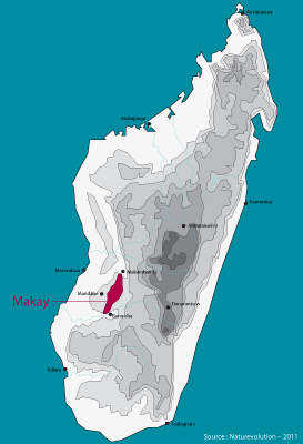 Madagascar, Makay Evrard Wendenbaum s map, NaturEvolution