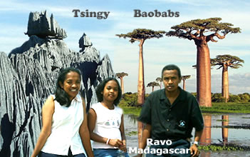 Travel and Trip in Madagascar the kingdom of lemurs, the webmasters of Christian thought in the Tsingy, Raharimanantsoa Pierrette, Ratsimbazafy Liantsoa Jenny and Ratsimbazafy Ravo Nomenjanahary